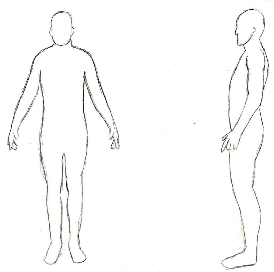 Human Body Template Human Body Outline Front