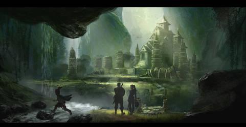 Old temple concept by PascaldeJong