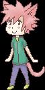 Pixel Pink Neko by RedSoraFox