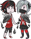 Sister Pixels by RedSoraFox