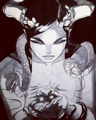 Demon and flower by siulziradnemra