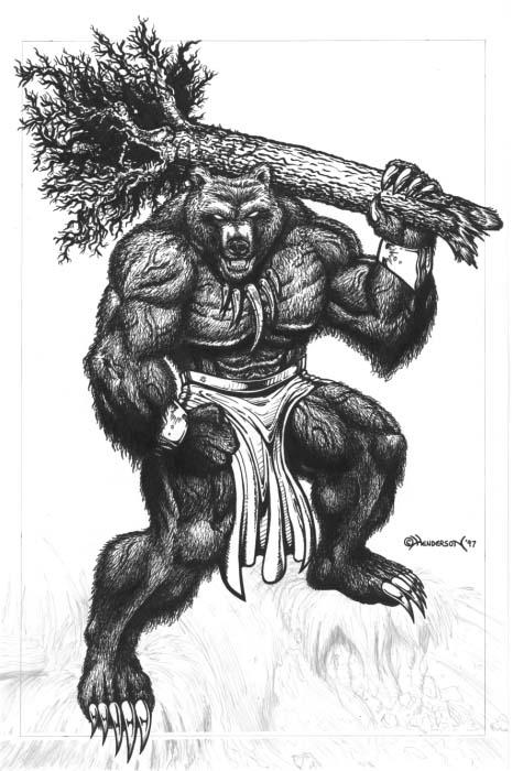 Werebear by Hendercrazy