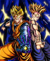Future Gohan and Future Trunks by q10mark