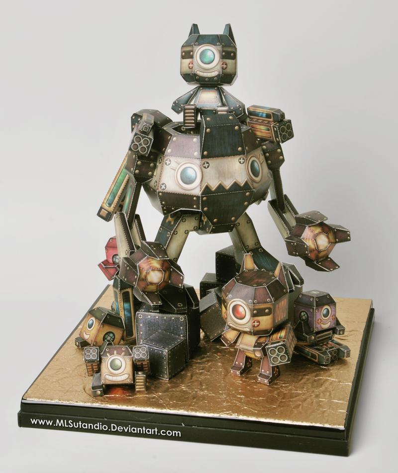 Robo Craft Origami Version By Mlsutandio On Deviantart