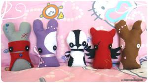 More plushies by raspberrydonkey