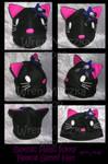 Goth Hello Kitty Fleece Genki