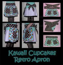 Kawaii Cupcake Retro Apron