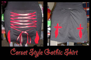 Corset Style Gothic Skirt