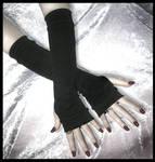 Little Black Dress Arm Warmers
