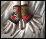 Lush Velvet Fingerless Gloves