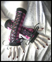 Cheshire Corset Arm Warmers by ZenAndCoffee