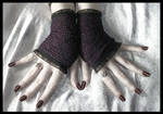 Plum Lace Fingerless Gloves