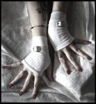 Vanity White Fingerless Gloves