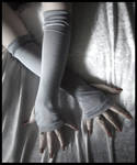 Steel Silver Grey Arm Warmers