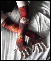 Moroccan Midnight Arm Warmers by ZenAndCoffee