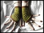 Dryad Damask Fingerless Gloves