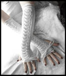 Snow Maiden Corset Arm Warmers