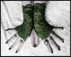 Arwen Lace Fingerless Gloves by ZenAndCoffee