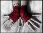 Undead Lace Fingerless Gloves