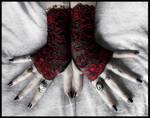 Celosia Lace Fingerless Gloves