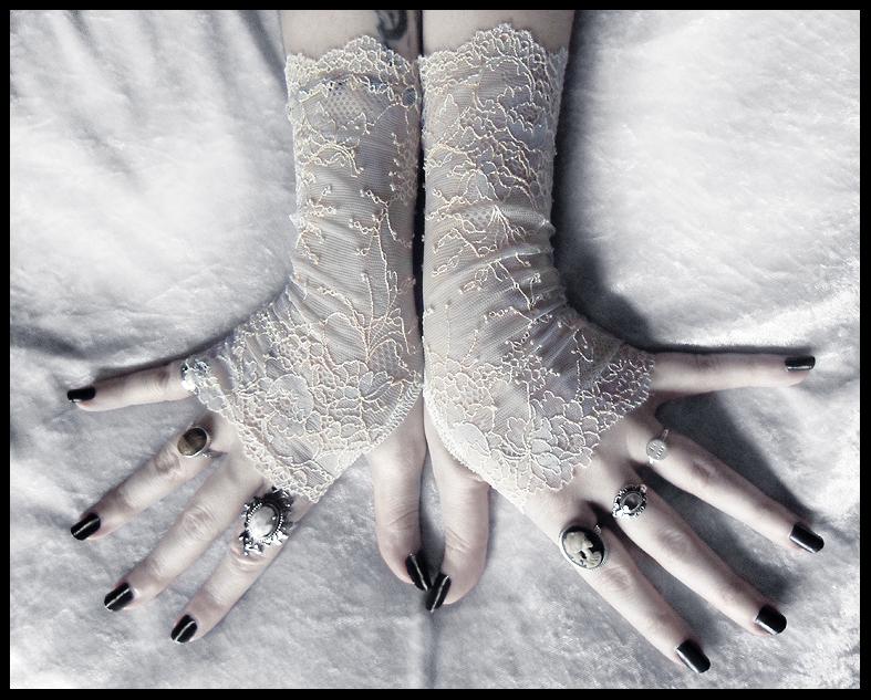 Odelette Lace Fingerless Gloves by ZenAndCoffee