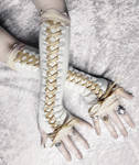 Gilded Maiden Victorian Corset Laced Up Arm Warmer