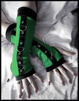 Gremlin Gothic Unisex Bondage Arm Warmers by ZenAndCoffee