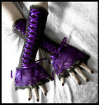 Nightshade Corset Laced Up Arm Warmers