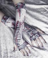 Plume de Sol Arm Warmers by ZenAndCoffee