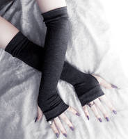 Obsidian Arm Warmers by ZenAndCoffee