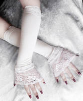 Elsa Victorian Cuff Arm Warmers by ZenAndCoffee