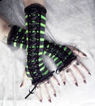 Wicked Maiden Victorian Corset Laced Arm Warmers