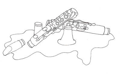 Clarinet in Parts by Lil-Moony