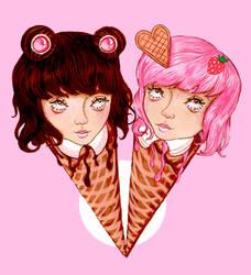 Ice Cream Twins by RowanF