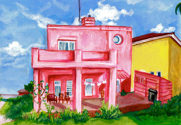 The Pink House by RowanF