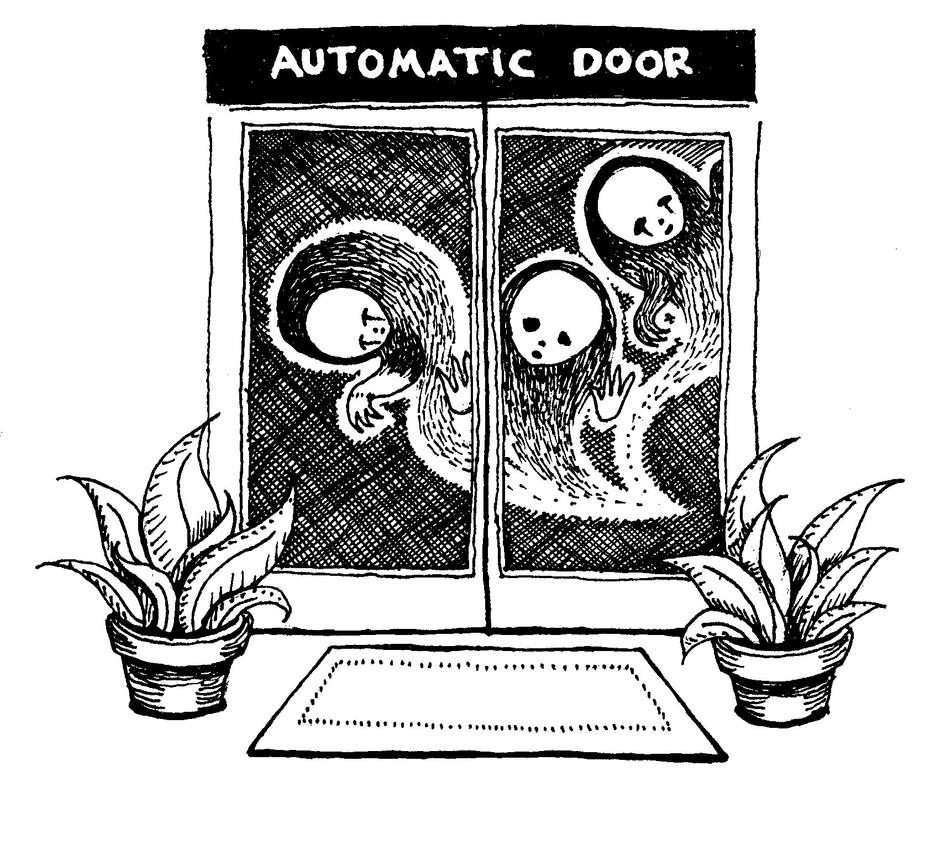 Ghosts and automatic doors by RowanF