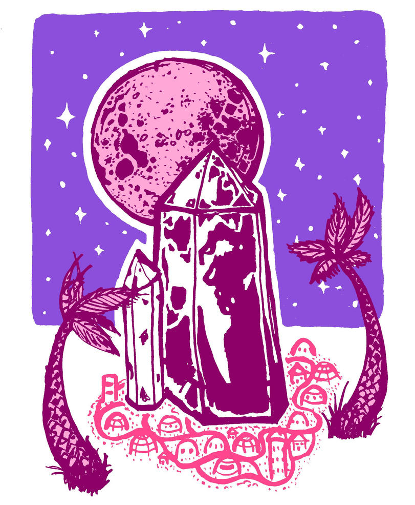 Moon Crystal City by RowanF