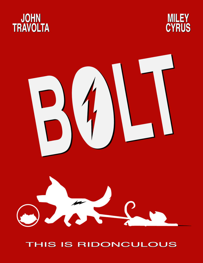 Bolt Movie Poster by Sudak