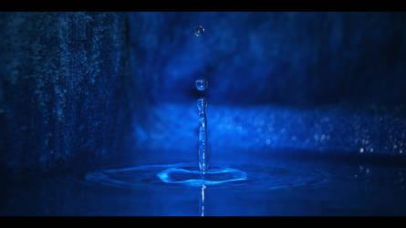 Water-drop blue 2 by Gomer08