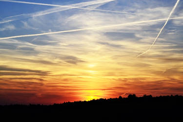 Colorfull sunset by Gomer08