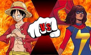 Luffy Vs Ms Marvel/kamala khan