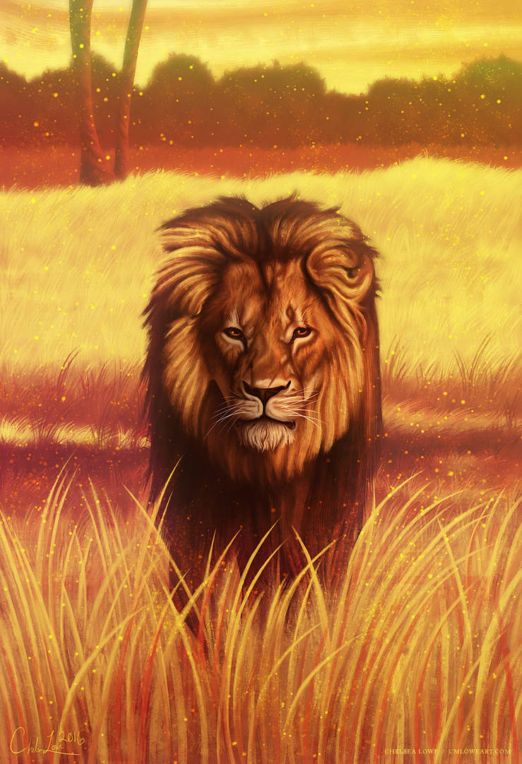 Cecil the Lion by cmloweart