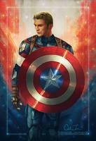 Captain America by cmloweart