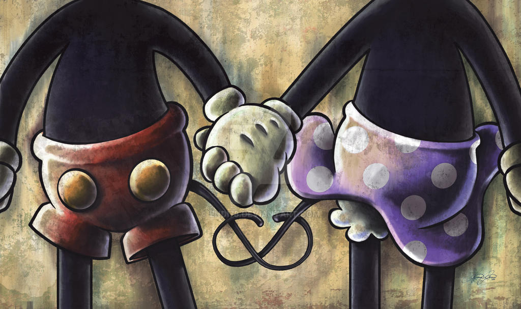 Mickey and Minnie by endi78 on DeviantArt Mickey Mouse Love Drawings