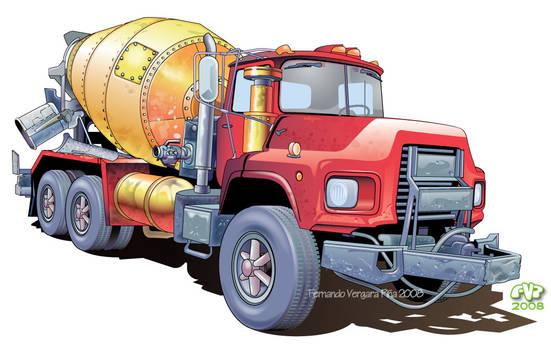 Vectorial Mixer Truck
