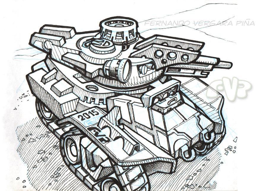 Pocket tank (Tanque-de-bolsillo) by Tripio
