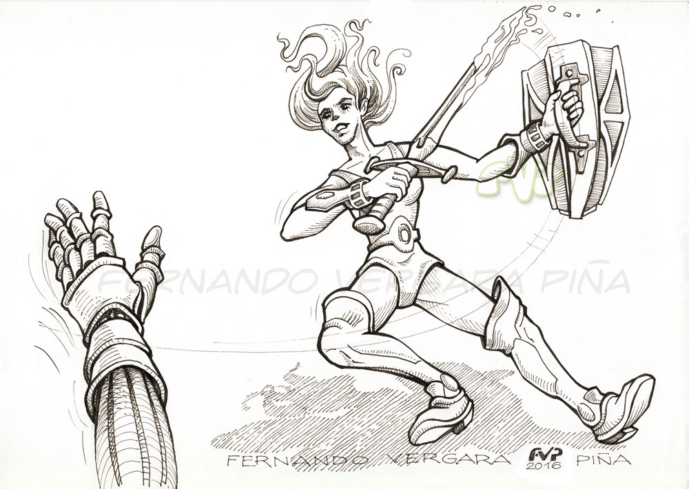Female warrior by Tripio