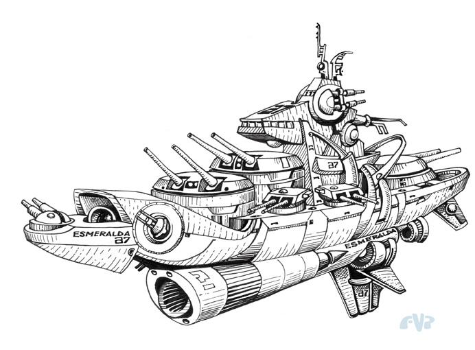 Combat Spaceship By Tripio On DeviantArt