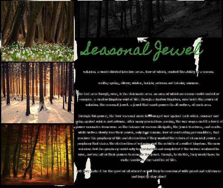 seasonal jewel ➺ elemental wolves ➺ open - Advanced Scribes