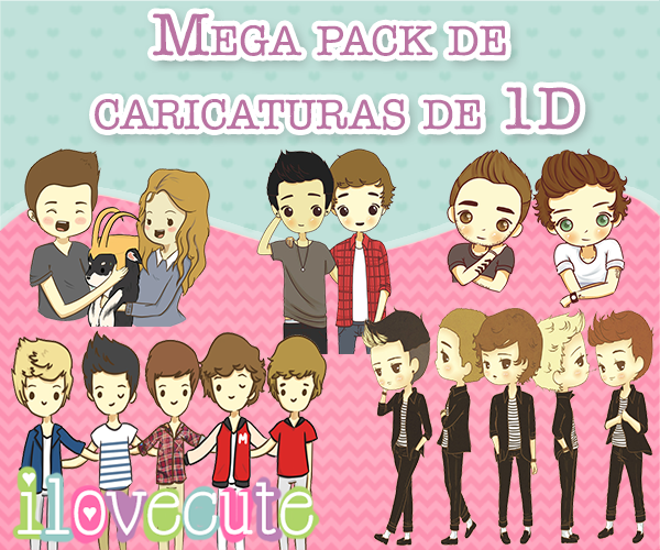 Mega Pack de Caricaturas de 1D by IloveCute1220